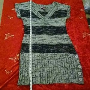 Say what grey and black sweater dress